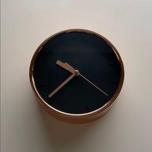 Rose Gold Black Clock